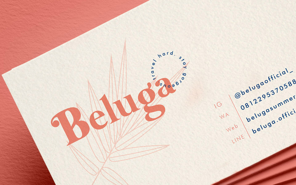 Beluga Clothing Business Card Business Card Design Inspiration